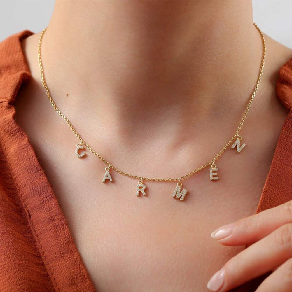 ProJewelry Gift for Christmas Surprise Philadelphia Mall price Initial Personaliz Name Necklaces