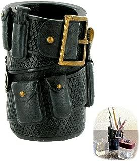 Polyresin Police Officer Belt Pen Pencil Holder Desk Organizer | Gift Idea Police Memorabilia Ammo Cowboy Home Office Desk Functional Decor