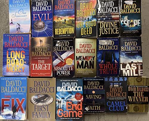 David Baldacci Paperback Thriller Collection 18 Book Set