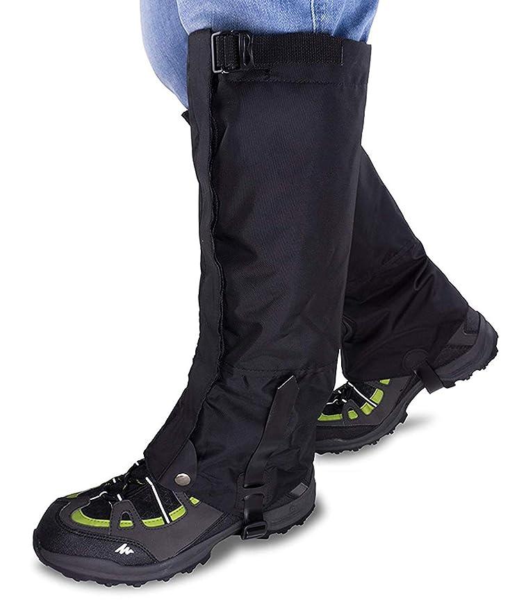 影響する仕立て屋告白するQShare登山用ゲイター レギング 靴 防水 ロングスパッツゲイター 軽量 防寒 泥除け 雨よけ 雪日に 悪天候対策など アウトドア 男女兼用 左右セット