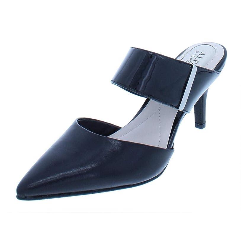 送る皿炭水化物[Alfani] Womens Jalessia Leather Pointed Toe Dress Heels [並行輸入品]