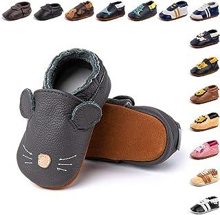 Primeros Pasos Bebe Niña Niños Zapatos Zapatillas de Estar por Casa Pantuflas Calzado Botitas y Patucos Infantiles Piel Si...
