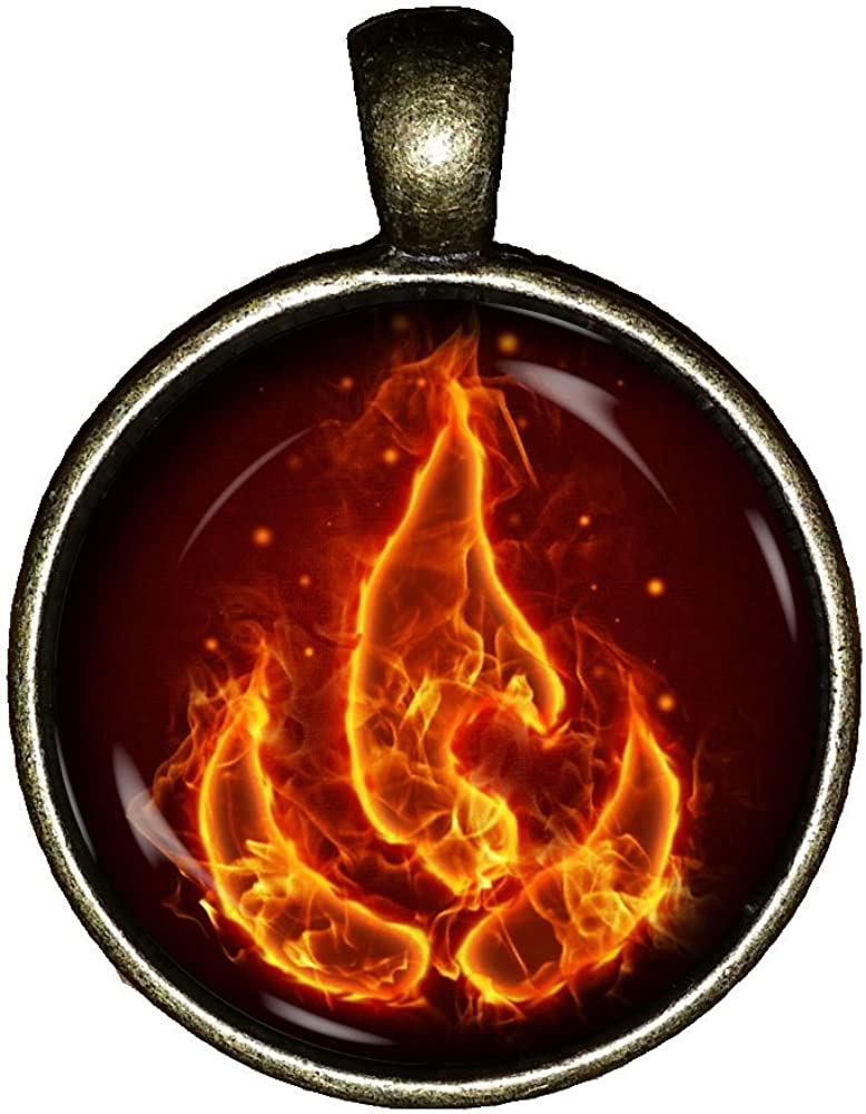 The Last Air Bender Fire Nation Necklace Avatar Handmade Jewelry Gift Pendant Charm