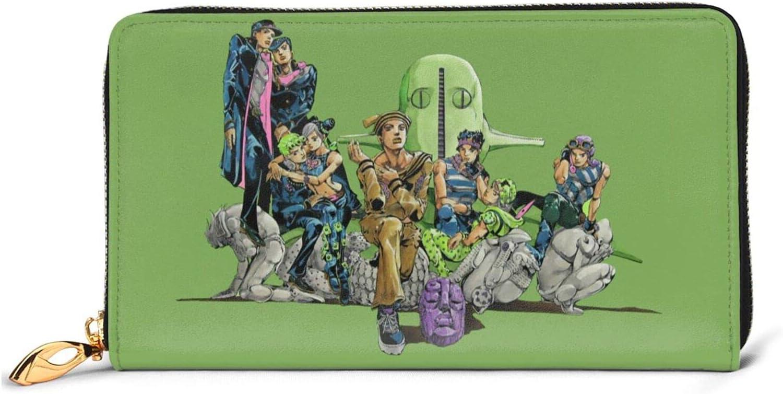 JoJo's Bizarre Popular products Adventure anime Elegant Leather coin purse zipper wallet