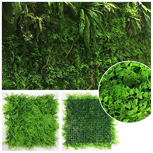 LYRWISHJB Artificial Boxwood Panels Hedge Plant Privacy Screen Outdoor Indoor Garden Fence Home Decor Greenery Walls Wedding Party Decor Background (Size : 20pcs)