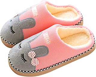 Maybolury Women Men Cute House Slippers Fuzzy Warm Winter Indoor Slippers Slip On Clog Home Slippers Shoes