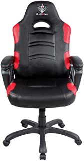 BLUE SWORD Gaming Chair, Racing Car Style Gaming Chair with Large Bucket Seat, Computer Chair with Tilting and Swivel Function, Leatherette, Red