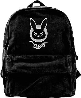 Mochila de lona D.VA Bunny Mochila de gimnasio, senderismo, portátil, bolsa de hombro, para hombres y mujeres