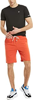 Zengjo Men's French Terry Gym Shorts with Elastic Waist