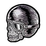 Photo de Daywalker Bikestuff Skull Racer Jet Lunettes de casque Jet Visage vers la gauche Patch Support Patch (Small Support)