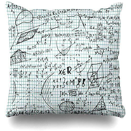 Lihaky Dekokissenbezug Quadratischer Logarithmus Quadratisches Papier Mathematisch mit Minus-Quadrat-Gleichungen Skizzen Spannungserziehung Schulkissenbezug
