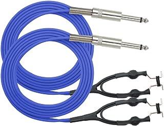 ITATOO 2pcs Tattoo Clip Cords Silicone Soft 5.9 Feet 1.8M Tattoo Clip Cord for Tattoo Machine Tattoo Power Supply Tattoo Wire Blue