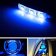 iJDMTOY (2) v2. Blue 3-SMD-5050 LED Modules For Car Motorcycle Projector Headlight Demon Eyes Retrofit