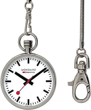 [モンディーン]MONDAINE 腕時計 ポケット ウォッチ レッドレザーポーチ付き チェーン付き A660.30316.11SBB メンズ [正規輸入品]