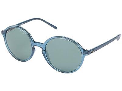 Ray-Ban 0RB4304 (Transparent Turquoise) Fashion Sunglasses