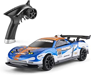 RC Cars 1:18 Scale Remote Control Car 4WD 2.4Ghz Rc Drift Cars for Adults and Kids Electric Toy RC Vehicles for Boys Or Girls, Blue