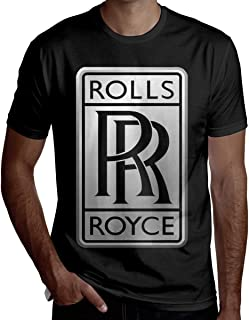 New Personalized Men Rolls Royce Logo O-Neck T-Shirt Black