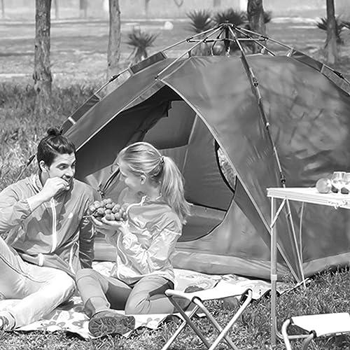 MJY Tente Tente extérieure Vitesse Hydraulique Tente ouverte Prougeection solaire Prougeection anti-pluie Tente 3-4 Personnes Camping sauvage Tente Famille Tente,Jaune,