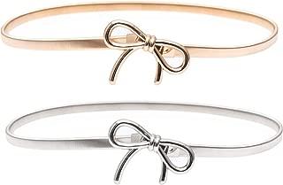 Best gold metal bow belt Reviews