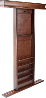 Imperial Wall Rack Deluxe Wall Rack, Antique Walnut