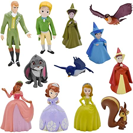 Babioms Decoración Para Tartas Infantiles - Princesa Mini Figuras Pastel Topper - Anime Decoración de Torta de Fiesta Fuentes del Partido, Modelo de Muñeca de Princesa - 12 Pcs