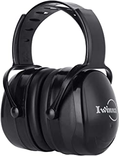 Ear Muffs Noise Reduction Safety Hearing Protection Headphones, Adjustable Noise Cancelling Earmuffs for Adults to Kids, Black