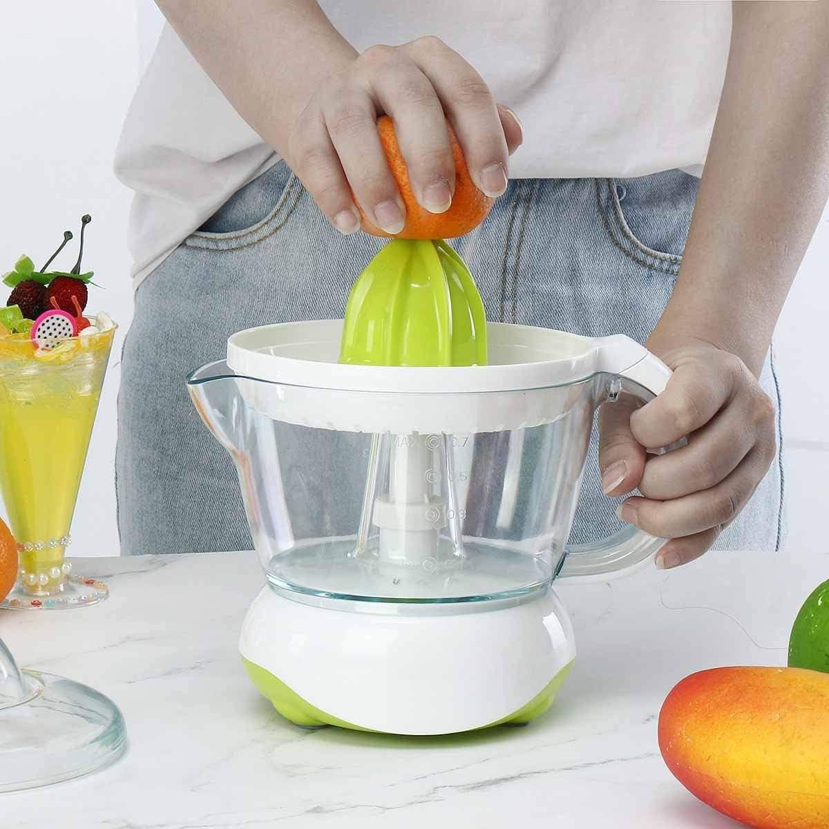 Exprimidor eléctrico Exprimidor de naranja y cítrico Limón Máquina de jugo de pomelo Exprimidor de exprimidor Exprimidor portátil Exprimidor InicioVerde Color