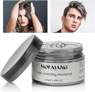 Mofajang Hair Wax Dye Styling Cream Mud, Natural Hairstyle Color Pomade, Washable Temporary, Gray
