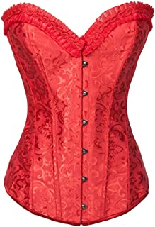 Alivila.Y Fashion Corset Women's Plus Size Jacquard Prints Steel Boned Corset