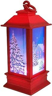 クリスマスデコレーション、サンタクロースエルクスノーマンパターンライト、LEDヴィンテージキャンドルティーライト、光る常夜灯、クリスマスパーティーの装飾用の無火キャンドルランプ(T-3PCS)