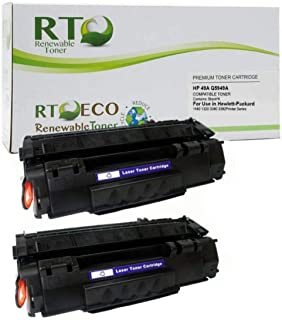 Renewable Toner Compatible Toner Cartridge Replacement for HP 49A Q5949A Laserjet 1160 1320 3390 3392 (Black, 2-Pack)