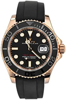 rolex rose gold and black