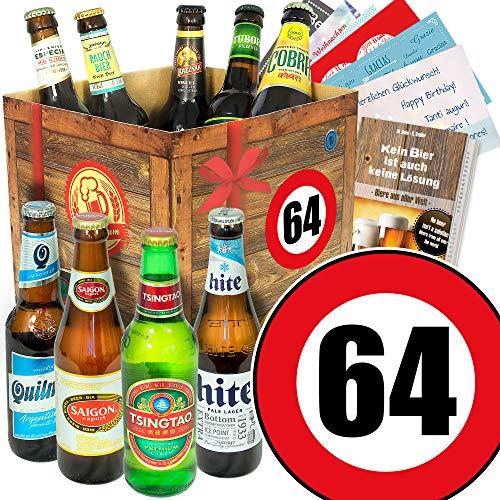 Geschenk Ideen zum 64. für Männer/Bierbox mit Bier der Welt
