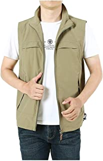Men's Casual Outdoor Lightweight Quick Dry Travel Vest Sports Zip Multi-Pocket Fish Work Travel Vest Jacket Goosun Breatha...