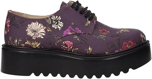 roseo , Chaussures de ville à lacets pour femme violet aubergine