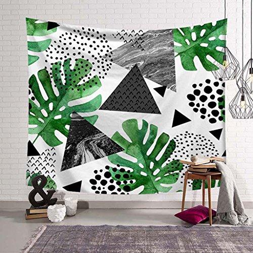 ZHOUJING Plante Série tapisseries Mur Couverture Serviette de Plage de Couverture, D, 150 * 130