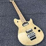 YYYSHOPP Guitars & Gear Guitarra eléctrica de 6 cuerdas, cuerpo de caoba y arce, cuerdas de acero acústico, guitarras clásicas (color: guitarra, tamaño: 40 pulgadas)