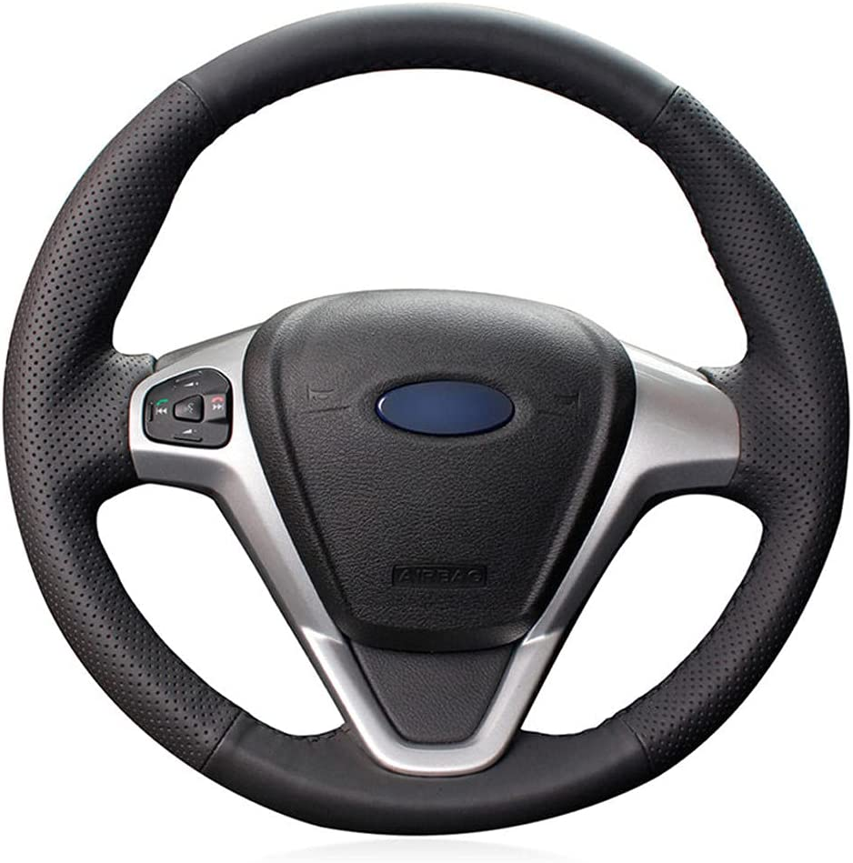 NFRADFM Hand-Stitched A surprise price is realized lowest price Steering Wheel Leather Non-Slip Cover Stee