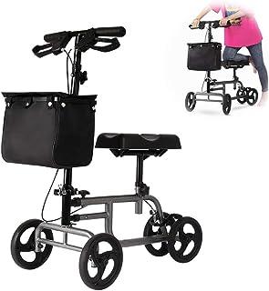 歩行車 歩行補助器 アシストウオーカー ショッピングカー シルバーカー 折り畳める 高さ調節可能 足の骨折補助手段 リハビリ用 障害者支援 ポケット付き ブラック
