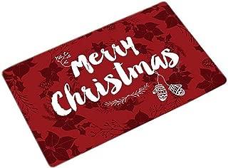 GrandSiri 1 Pcs Merry Christmas Santa Claus Floor Mats Howling Popular Non Slip Soft Cushion Padded Sets Toilet Room Decorative Washable Fluffy Foot Gifts, Type-03