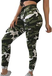 LInkay Damen Hose, Modale Tarnung Yoga-Hose Sommer Komfort Sport Fitness Yoga Leisure Strumpfhose Mode 2019