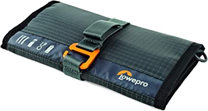 Lowepro Wrap Gearup Wrap. Compact Travel Organizer for Phone Cables, Adapters, USB Memory Sticks and Small Devices., Dark ...