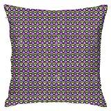 N / A Kawaii Mexican Sugar Skull Pillowcase Almohada Decorativa Funda de cojín estándar Regalo 18 x 18 Pulgadas / 45 x 45 cm