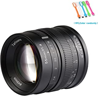 7artisans 55mm F1.4 APS-C Large Aperture Manual Focus Prime Fixed Compatible for Fuji Cameras X-A1,X-A10,X-A2,X-A3,X-AT,X-M1,XM2.X-T1,X-T10,X-T2,X-T20,X-Pro1,X-Pro2,X-E1,X-E2-Black (55mm F1.4 Fuji)