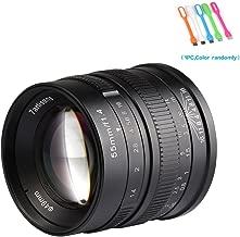 7artisans 55mm F1.4 APS-C Large Aperture Manual Focus Prime Fixed Compatible for Fuji Cameras X-A1,X-A10,X-A2,X-A3,X-AT,X-M1,XM2.X-T1,X-T10,X-T2,X-T20,X-Pro1,X-Pro2,X-E1,X-E2-Black (55mm F1.4 Fuji)