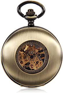 Trend Korean Version Of The Hollow Flip Antique Mechanical Pocket Watch Male And Female Hanging Table Student Retro Table A Nice Gift Vintage Pocket Watch