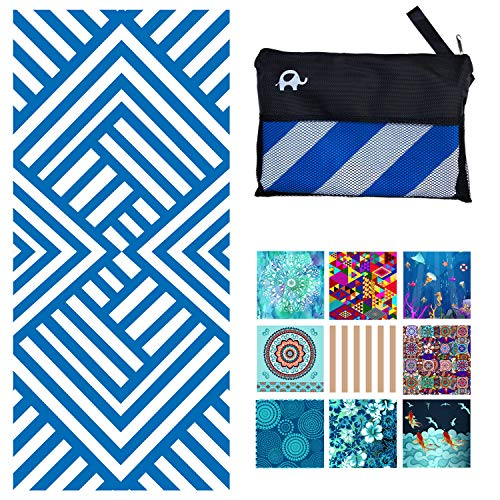 Elite Trend Microfiber Beach Towel for Travel - Oversized XL 78x35Inch Quick Drying, (Maze) Lightweight, Fast Dry Towels, Sand Free (Maze, Extra Large...