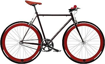 Bicicleta roja FIX 2.  Fixie de una velocidad / una velocidad.  Talla 53