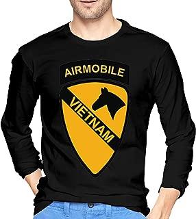 1st Cavalry Air Mobile Vietnam Men's Long Sleeve T-Shirt Cotton T-Shirts Gift Tee