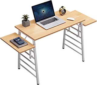 Sponsored Ad - SEAMOON Modern Home Office Desk for Small Spaces 35 Inch Computer Laptop Study Writing Table Simple Wood Oa...